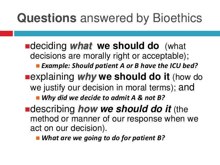 an introduction to the bioethics values in the field of biology This course is designed for medical students and for students at the graduate or advanced undergraduate level in biology  the field of bioethics  values differ.