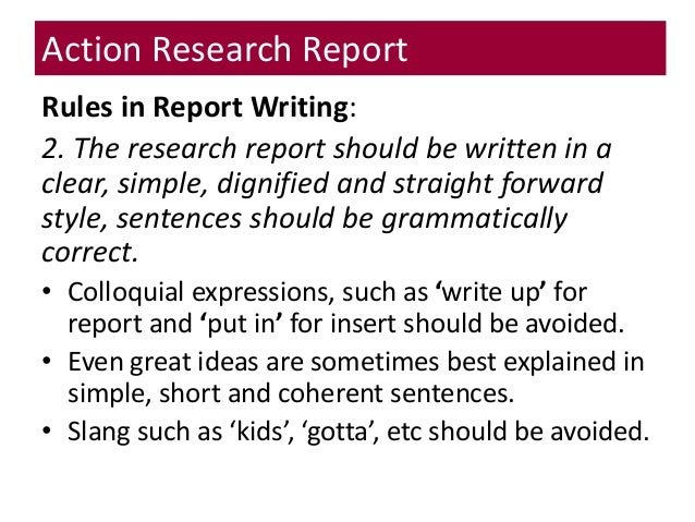 TSL3133 Topic 14 Writing the Action Research Report