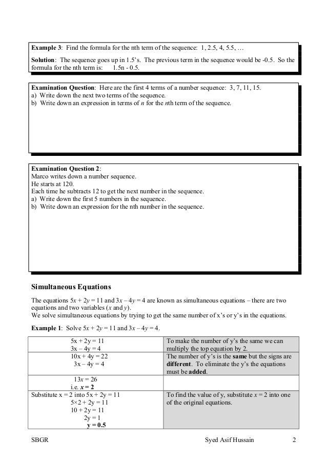 Topic 15 algebra 2