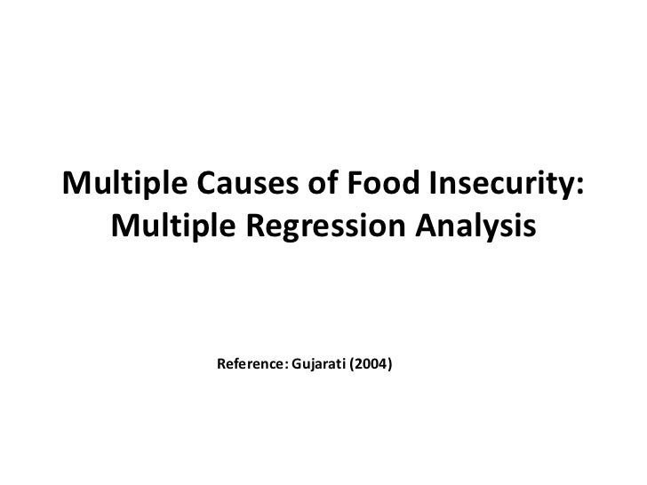 Multiple Causes of Food Insecurity:  Multiple Regression Analysis          Reference: Gujarati (2004)