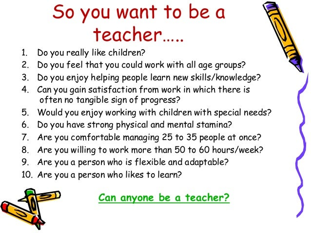 why teaching profession