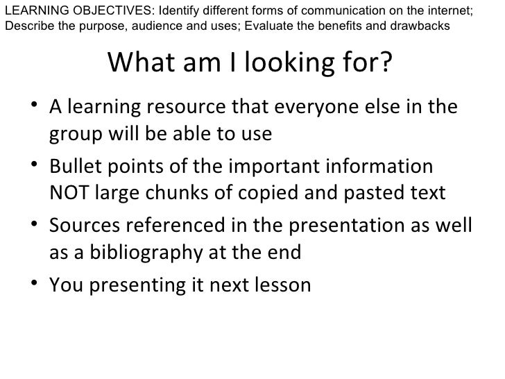 identify different forms of communication