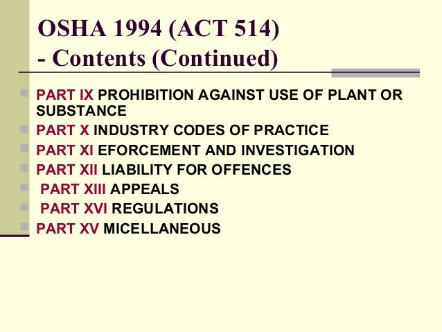 osha 1994 in malaysian construction industry Osha recordkeeping rules have changed  this live webinar is designed for construction and project managers, owners,  (practice and industry groups) 2016 .