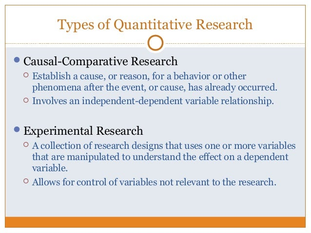 topic 1 introduction to quantitative research