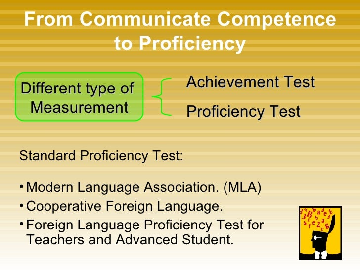 from communicate competence to proficiency