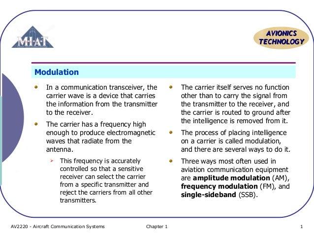 Aircraft Communication Topic 2 modulation and propagation of radio w…