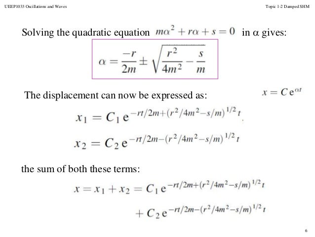 Topic 2 damped oscillation