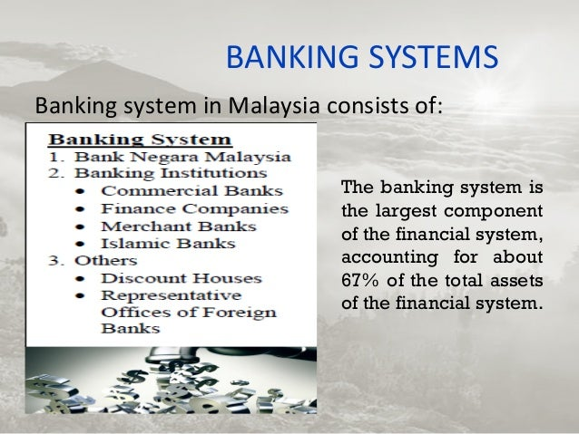 financial system in malaysia Financial system development and economic performance in malaysia: the role of liberalization by chean yan nan iris chuah xui cia lim chen ling.