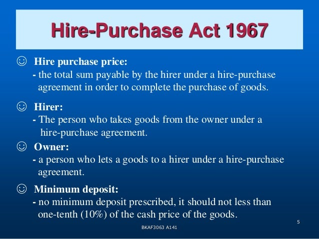 Topic 2 Hire Purchase