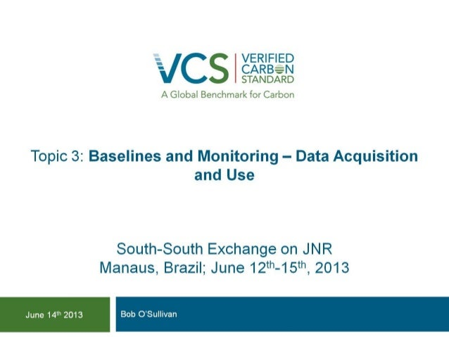 Topic 3   baselines and mrv