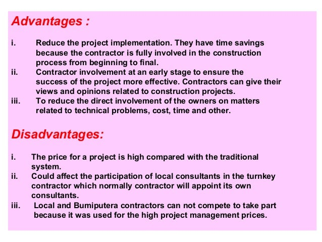 Contract procedure for Cost plus building contract