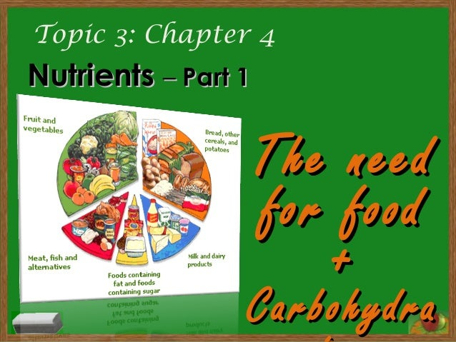 Topic 3: Chapter 4 NutrientsNutrients –– Part 1Part 1 The needThe need for foodfor food ++ CarbohydraCarbohydra