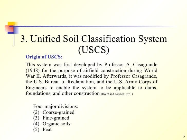 Soil classification for Soil grading