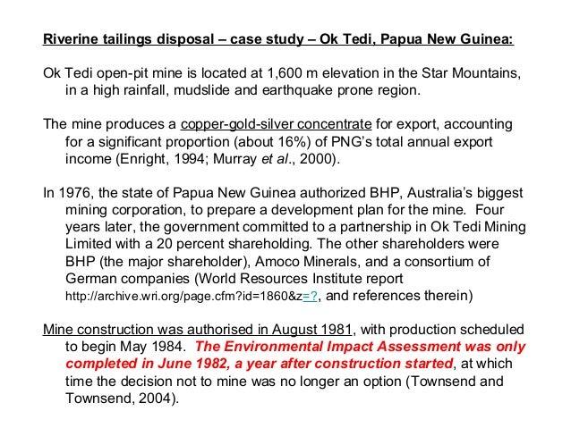 the ok tedi copper mine case study solution