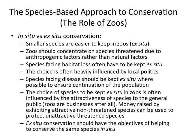 the role of zoos in conservation Pbi has funded several scientific studies with zoo bears that would be impossible to conduct on polar bears in the wild these studies play a key role in pol.