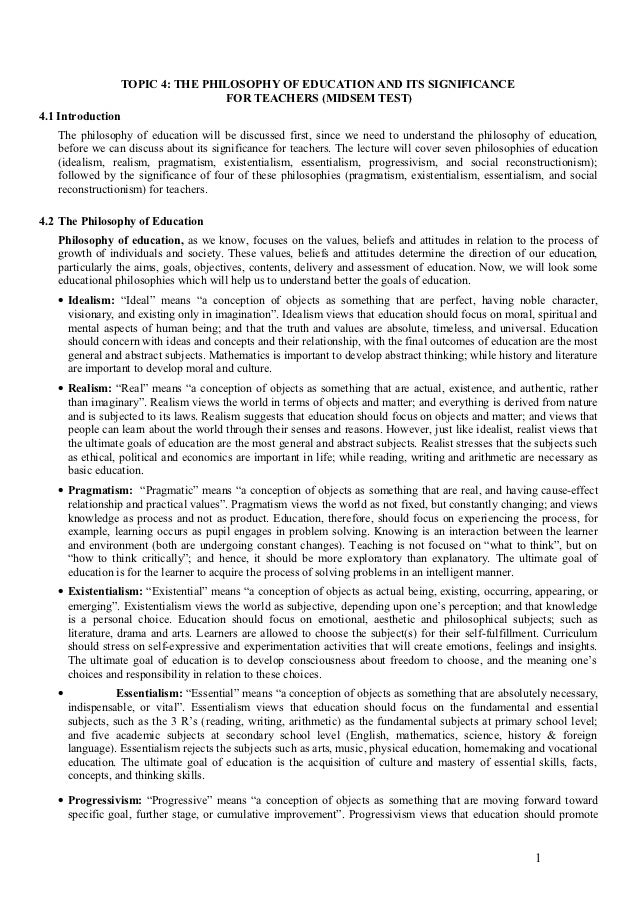 personal values education essay