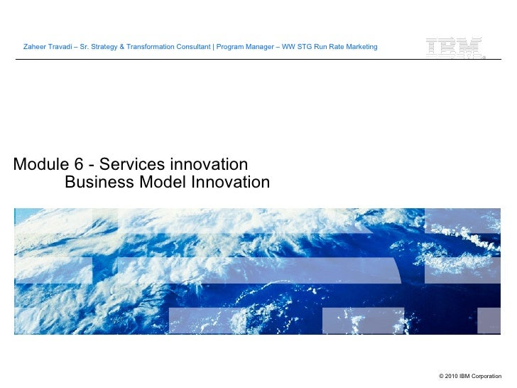 Module 6 - Services innovation Business Model Innovation