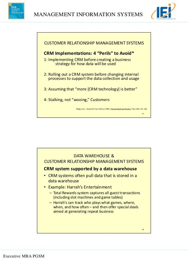 avoid the four perils of crm Customer relationship management (crm) uses automation to align business processes with customer strategies in  rigby, d, reichheld, f, and schefter, p (february 2002) avoid the four perils of crm harvard business review, vol.