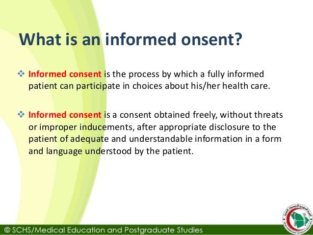 how to write an informed consent