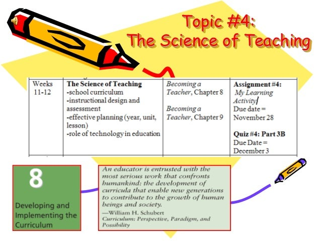 Topic #4: The Science of Teaching