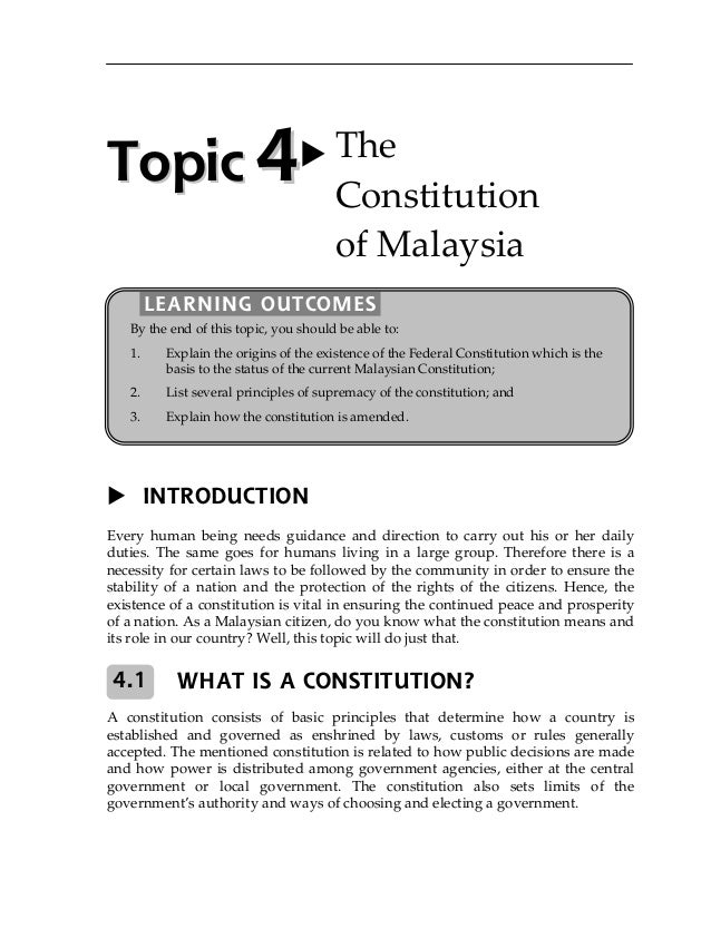 the constitution of malaysia Article 153 of the malaysian constitution article 153 – reservation of quotas in  respect of services, permits, etc, for malays and natives of any.