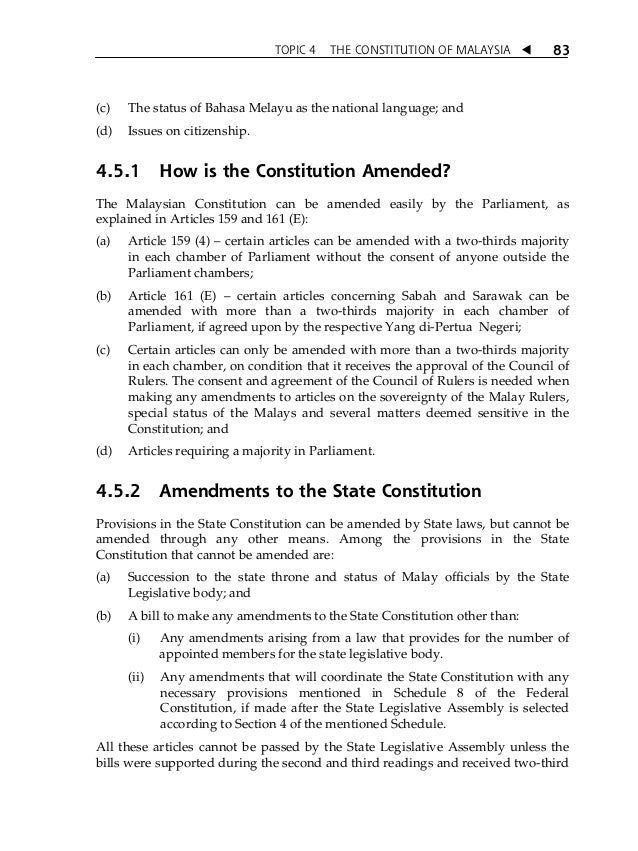 the federal constitution of malaysia Federal constitution note: the notes in small print on unnumbered pages are not part of the authoritative text they are intended to assist the reader by setting out.