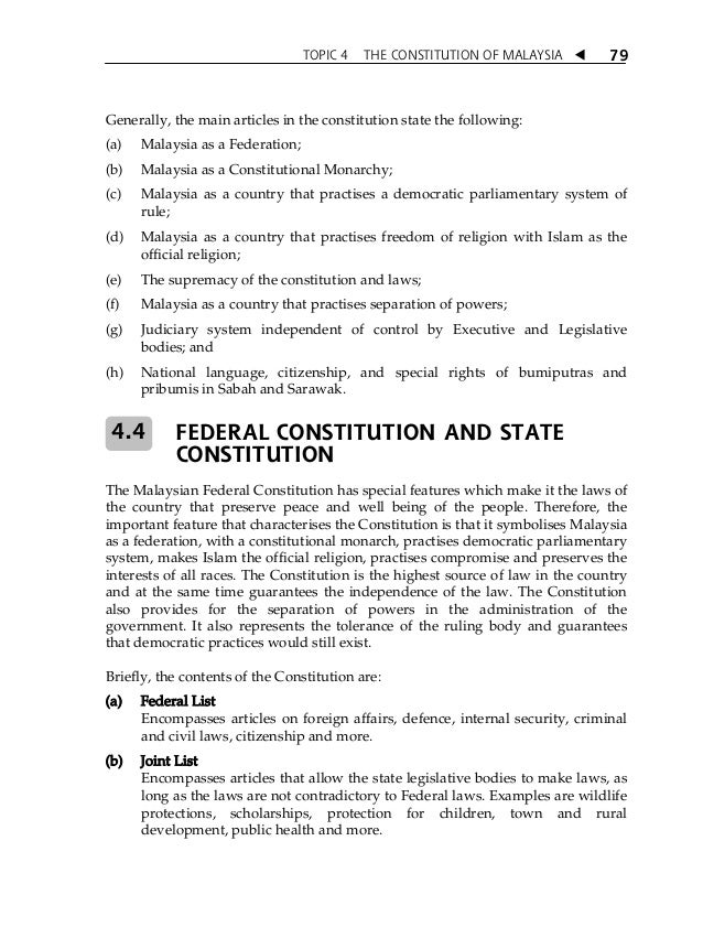 "constitution of malaysia Constitution gives the federal and state governments the power to ""control or   islamic development malaysia (jakim) within the prime minister's department."