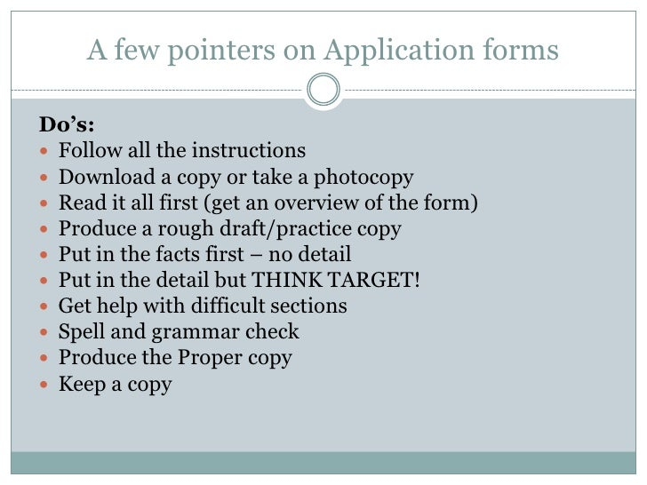 Topic 5 Dos And Donts In Job Application