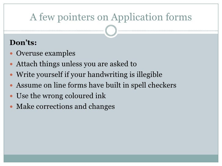 Topic 5 - Do's and Don'ts in Job Application