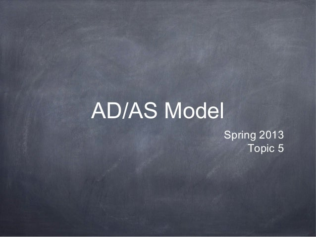 AD/AS Model          Spring 2013               Topic 5