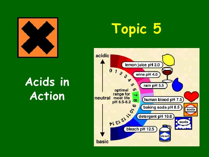 Topic 5 Acids in Action