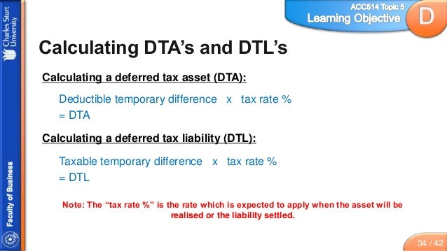 Topic 5 Slides Accounting For Income Tax on Accounting Worksheet Example