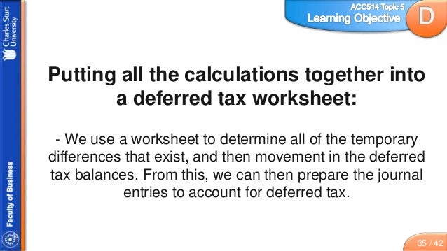 Topic 5 slides accounting for income tax