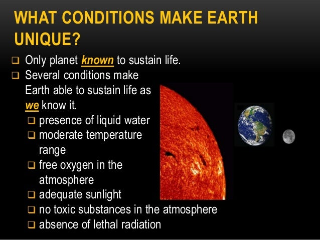 Topic 6 origins of life ppt 21 what conditions make earth sciox Images