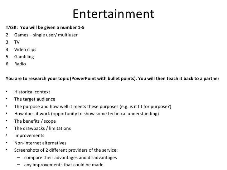 entertainment topic