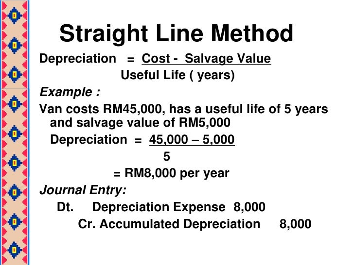 straight line depreciation is a typical example of a