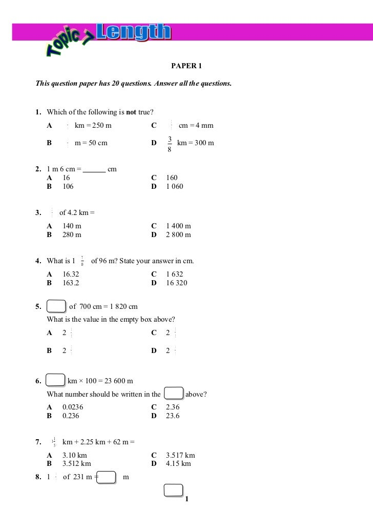 PAPER 1This question paper has 20 questions. Answer all the questions.1. Which of the following is not true?              ...