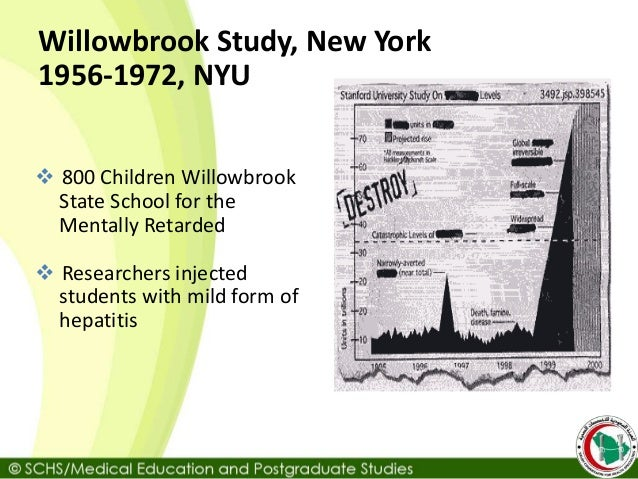 The Willowbrook Hepatitis Studies Revisited: Ethical Aspects