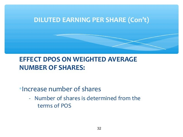 When computing diluted earnings per share stock options are