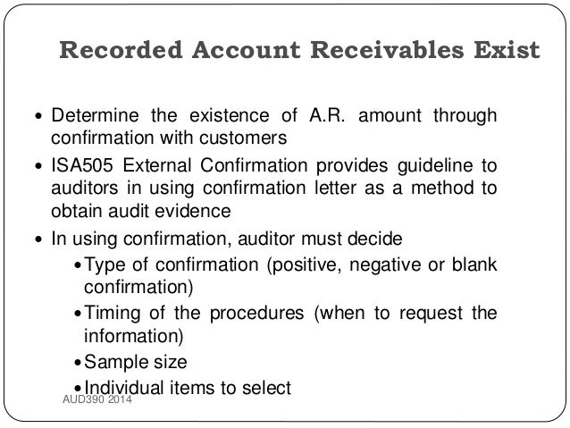 Topic 8 audit of revenue & receipts cycle + acc receivable