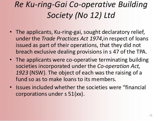 Re Ku Ring Gai Co Operative Building Society