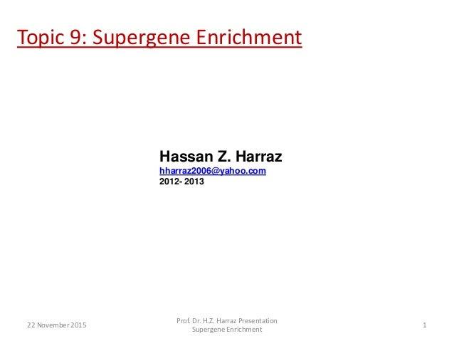 Topic 9: Supergene Enrichment Hassan Z. Harraz hharraz2006@yahoo.com 2012- 2013 22 November 2015 Prof. Dr. H.Z. Harraz Pre...