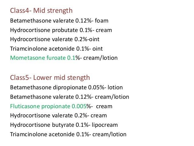 Topical corticosteroids