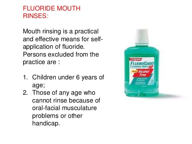 Flouride facial allergy