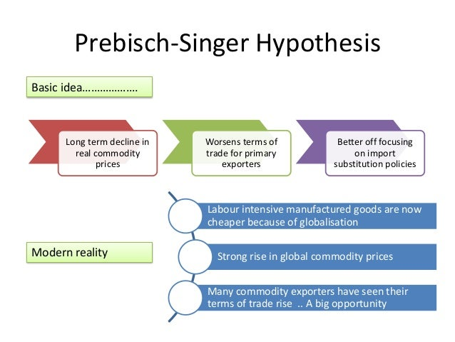 according to the prebisch-singer thesis