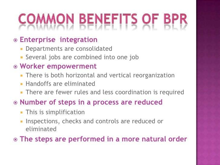 business process reengineering (BPR)
