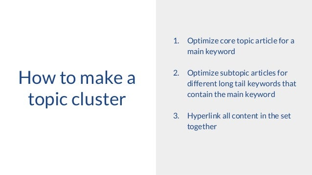 Topic Cluster SEO Strategy Slide 3