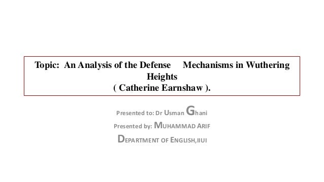 An analysis of the topic of the peoples defense mechanisms