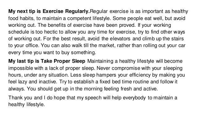 Health and Fitness Speech