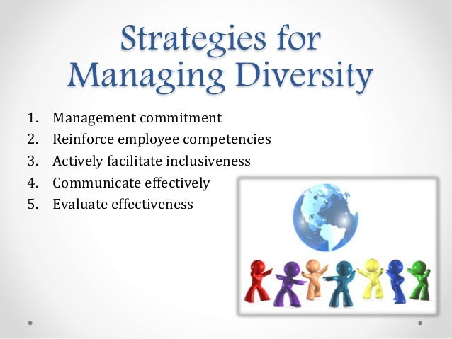 managing workplace diversity Managing diversity in the workplace is a critical skill for leaders to hone as companies spend significant time, energy, and resources driving workplace diversity and inclusion after working with thousands of organizations for the past 30 years, we've spotted an interesting trend: diversity and inclusion in the.